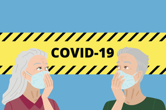 Older Americans Protecting Themselves with masks to prevent covid19